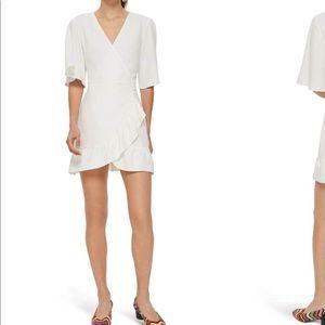 Topshop ruffle white camisole size 6